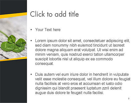 Four-Leaf Clover PowerPoint Template, Slide 3, 14502, Holiday/Special Occasion — PoweredTemplate.com