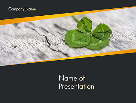 Holiday/Special Occasion: Four-Leaf Clover PowerPoint Template #14502