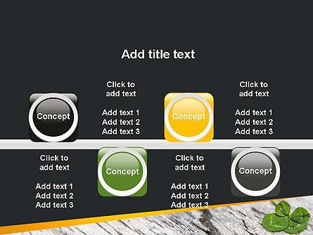 Four-Leaf Clover PowerPoint Template Slide 18