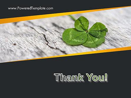 Four-Leaf Clover PowerPoint Template Slide 20