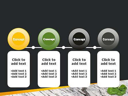 Four-Leaf Clover PowerPoint Template Slide 5
