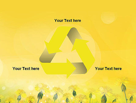 Dandelions Flowers on Sunshine PowerPoint Template Slide 10