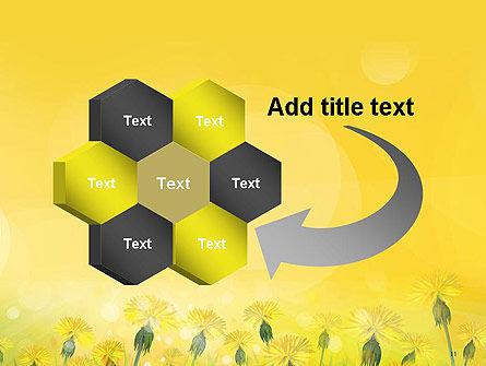 Dandelions Flowers on Sunshine PowerPoint Template Slide 11