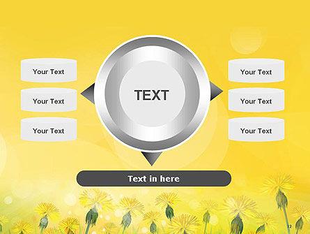 Dandelions Flowers on Sunshine PowerPoint Template Slide 12