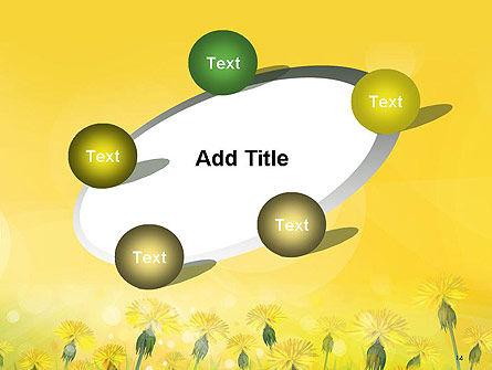 Dandelions Flowers on Sunshine PowerPoint Template Slide 14