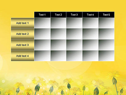 Dandelions Flowers on Sunshine PowerPoint Template Slide 15
