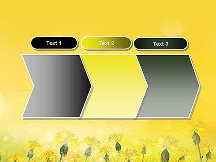 Dandelions Flowers on Sunshine PowerPoint Template Slide 16