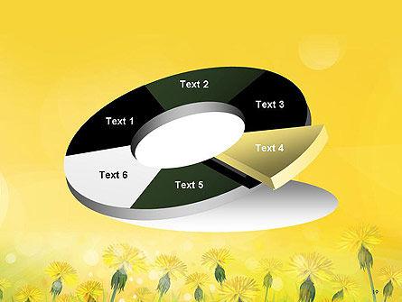 Dandelions Flowers on Sunshine PowerPoint Template Slide 19