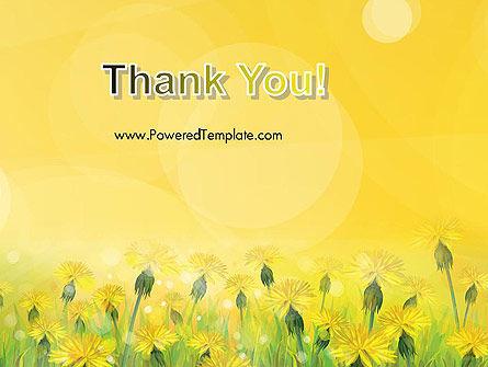 Dandelions Flowers on Sunshine PowerPoint Template Slide 20