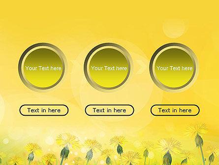 Dandelions Flowers on Sunshine PowerPoint Template Slide 5