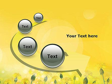 Dandelions Flowers on Sunshine PowerPoint Template Slide 6
