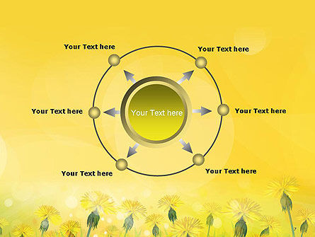 Dandelions Flowers on Sunshine PowerPoint Template Slide 7