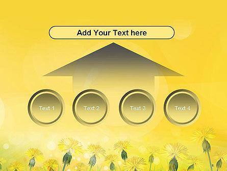 Dandelions Flowers on Sunshine PowerPoint Template Slide 8