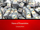 Financial/Accounting: Money Heap PowerPoint Template #14504