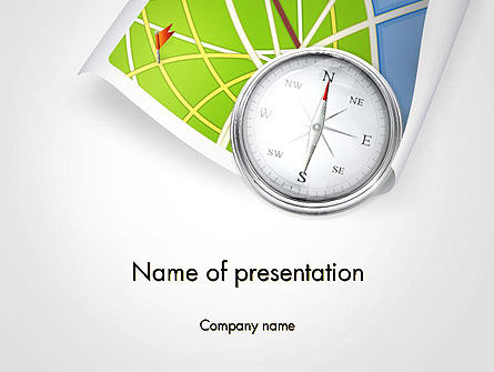 Business Concepts: Compass and Road Map PowerPoint Template #14505