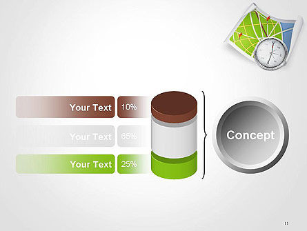 Compass and Road Map PowerPoint Template Slide 11