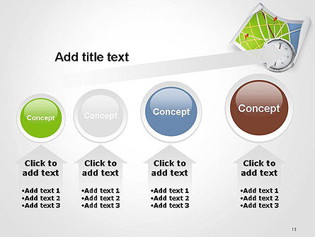 Compass and Road Map PowerPoint Template Slide 13