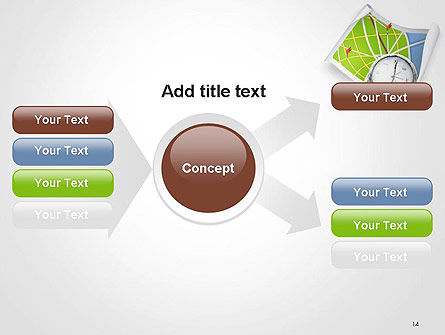 Compass and Road Map PowerPoint Template Slide 14