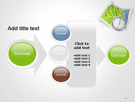 Compass and Road Map PowerPoint Template Slide 17