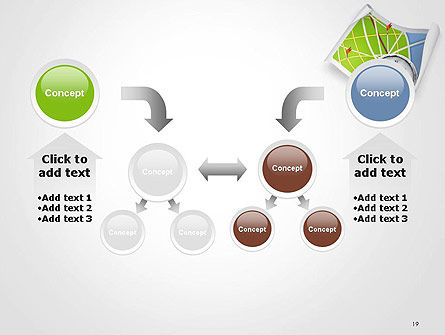 Compass and Road Map PowerPoint Template Slide 19