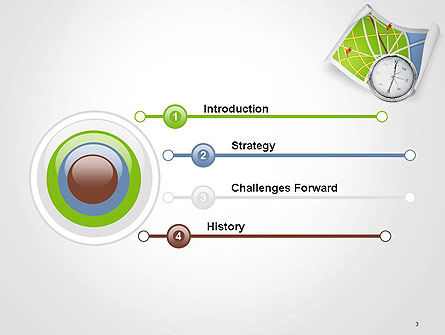Compass and Road Map PowerPoint Template Slide 3