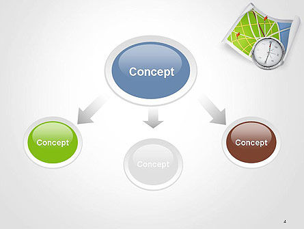 Compass and Road Map PowerPoint Template Slide 4