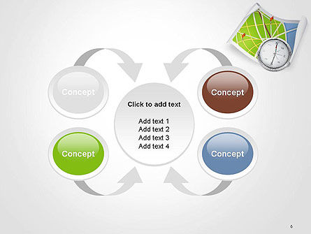 Compass and Road Map PowerPoint Template Slide 6