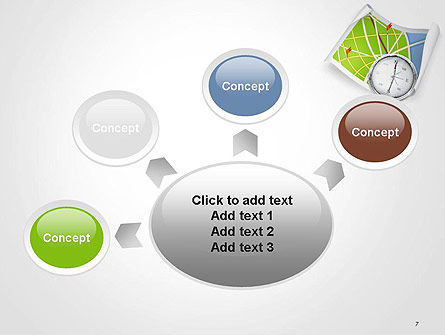 Compass and Road Map PowerPoint Template Slide 7