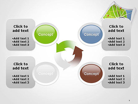 Compass and Road Map PowerPoint Template Slide 9