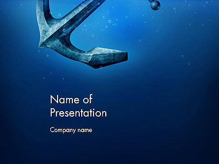 Anchor Under Blue Ocean PowerPoint Template, 14506, Cars and Transportation — PoweredTemplate.com