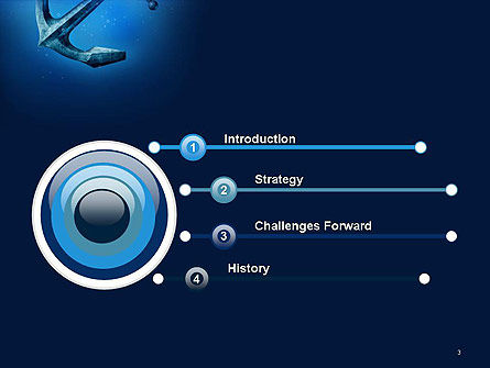 Anchor Under Blue Ocean PowerPoint Template, Slide 3, 14506, Cars and Transportation — PoweredTemplate.com