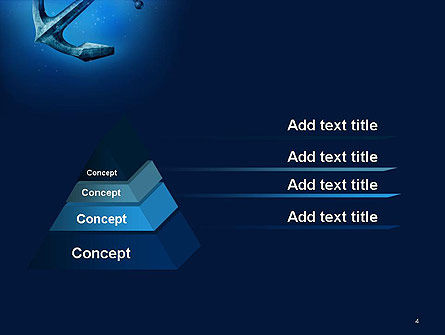 Anchor Under Blue Ocean PowerPoint Template, Slide 4, 14506, Cars and Transportation — PoweredTemplate.com