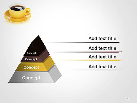 Yellow Cup and Saucer PowerPoint Template Slide 10