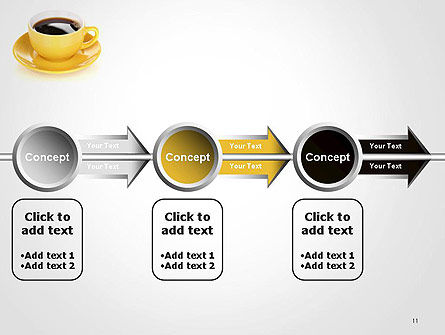 Yellow Cup and Saucer PowerPoint Template Slide 11