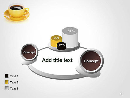 Yellow Cup and Saucer PowerPoint Template Slide 13