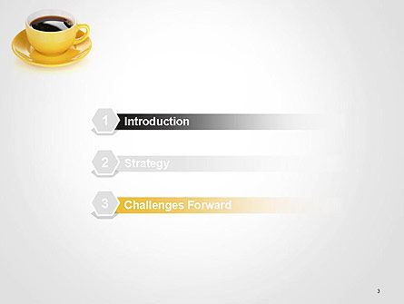 Yellow Cup and Saucer PowerPoint Template Slide 3