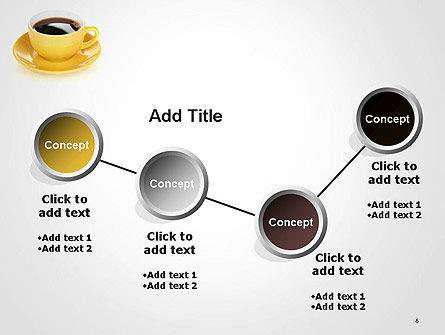 Yellow Cup and Saucer PowerPoint Template Slide 6