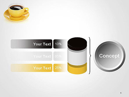 Yellow Cup and Saucer PowerPoint Template Slide 8