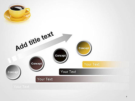 Yellow Cup and Saucer PowerPoint Template Slide 9