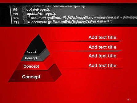 Javascript Code Lines PowerPoint Template Slide 12