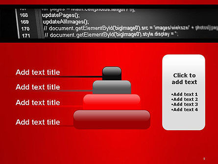 Javascript Code Lines PowerPoint Template Slide 8