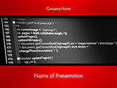 Technology and Science: Javascript Code Lines PowerPoint Template #14508