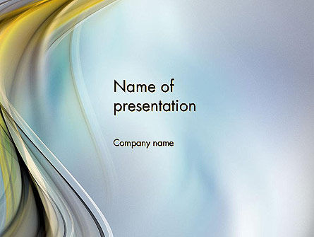 Abstract Background with Soft Waves PowerPoint Template