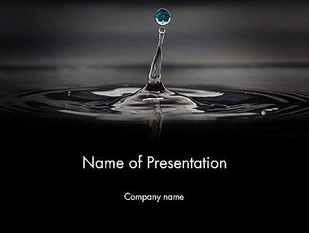 Nature & Environment: Water Splash in Dark PowerPoint Template #14510