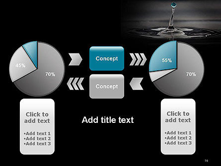 Water Splash in Dark PowerPoint Template Slide 16
