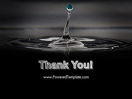 Water Splash in Dark PowerPoint Template Slide 20