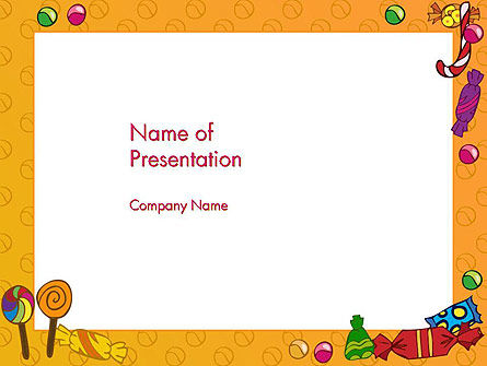 Candy Frame PowerPoint Template, 14511, Food & Beverage — PoweredTemplate.com