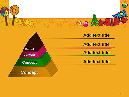 Candy Frame PowerPoint Template Slide 12