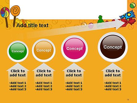 Candy Frame PowerPoint Template Slide 13