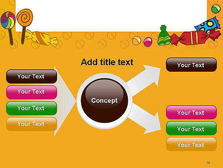 Candy Frame PowerPoint Template Slide 14